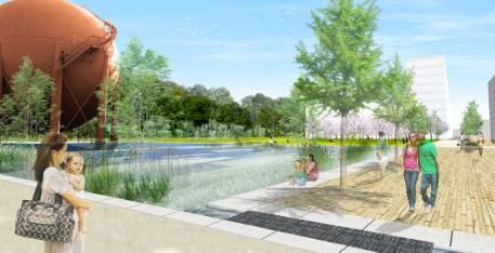 Etudes préliminaires pour les espaces publics du projet les Coulisses